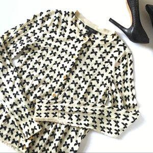 J. Crew Merino Wool Cardigan Bow Design